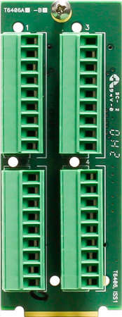 Ward-Beck T6406A Dual Card 4 9-Pin Terminal Block Rear Module