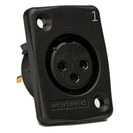 Whirlwind WC3FQBK Black Female XLR Chassis Mount Connector Numbered 4