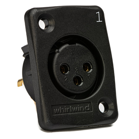 Whirlwind WC3FQBK Black Female XLR Chassis Mount Connector Numbered 7