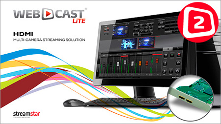 STREAMSTAR WEBCAST LiTE 2 with Two-Input HDMI Capture Card