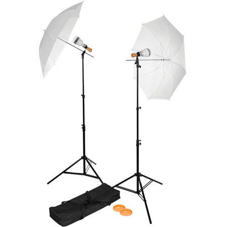 Westcott 360 Single Socket 2 Light Led Umbrella Kit
