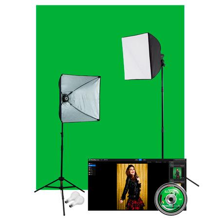 Westcott 401N Illusions uLite Green Screen Photo Lighting Kit