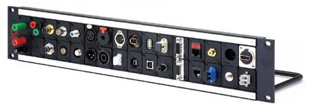 AVP WK-U216E2-Z 2x16 2 RU Universal Patch Panel - 6 Inch Cable bar