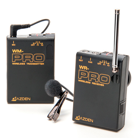 Azden WLX-PRO On-Camera Wireless Lavalier Microphone System