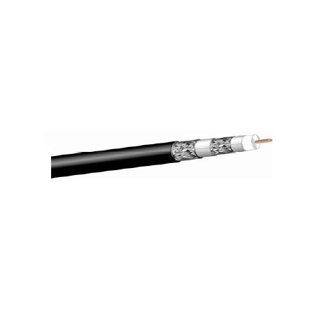West Penn 25Q841 RG6/U Type CATV Coaxial Cable Plenum (1000 Ft.) Black