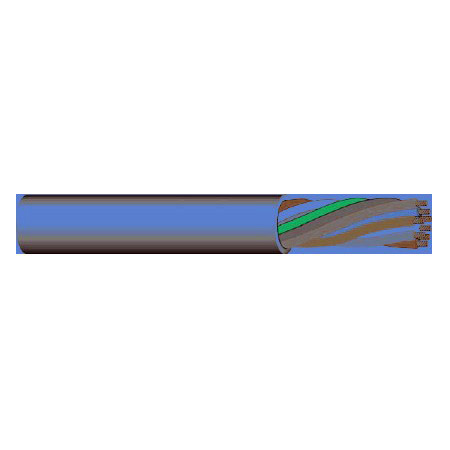 West Penn Wire 272 10 Conductor 22 Guage Control Cable 1000 Feet Gray