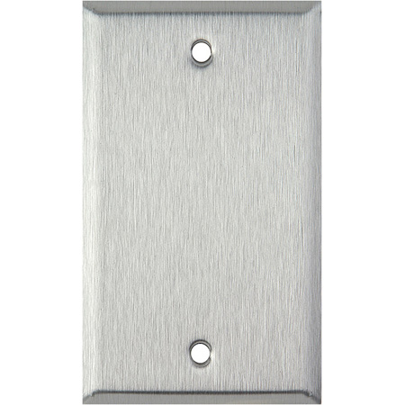Blank Single Gang Clear Anodized Aluminum Wall Plate