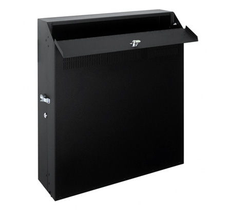 8 Space Low Profile Wall Rack
