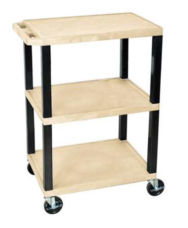 H Wilson WT34S - 34-Inch High Putty Tuffy Utility Cart - 3 Shelves