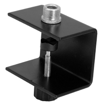 WindTech TMC-3 Microphone or Video Table Clamp with 3/8in-16 and  5/8in-27 Threads