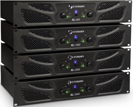 Crown XLi2500 XLi Series 1500W 2 Channel Power Amplifier