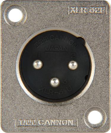 Canare XLR-3-32F77 ITT Cannon Solder Back Rectangular Small Flange 3-Pin XLR Panel Mount Male Plug