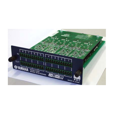 Yamaha MY8-ADDA96 8-channel Analog In/8-channel Analog Out - Euroblock Connector