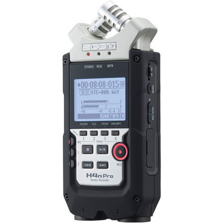 Zoom H4N PRO 4-Track Handheld Digital Audio Recorder
