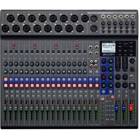 zoom l20 livetrak digital mixer and multitrack recorder. Black Bedroom Furniture Sets. Home Design Ideas