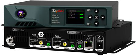 ZeeVee ZvPro 820 Dual Channel Unecrypted HDMI Encoder/QAM Modulator