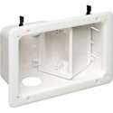 Arlington TVB712 Recessed TV Box with Angled Openings