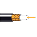 Belden New-Gen Coaxial Plenum RG6 Braided Shield Cable 1000Ft Black.