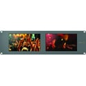 Blackmagic HDL-SMTVDUO SmartView Duo Dual 8 Inch Intelligent SDI Rack Monitors