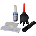 Giottos CL 1001 Optical Liquid / Brush / Micro-Fiber / Rocket-Air Cleaning Kit
