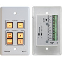 Kramer RC-62 6-Button Room Controller with Printed Group Labels - White
