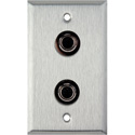 1-Gang Stainless Steel Wall Plate with 2- 4 Pin S-Video With Rear Solder Points