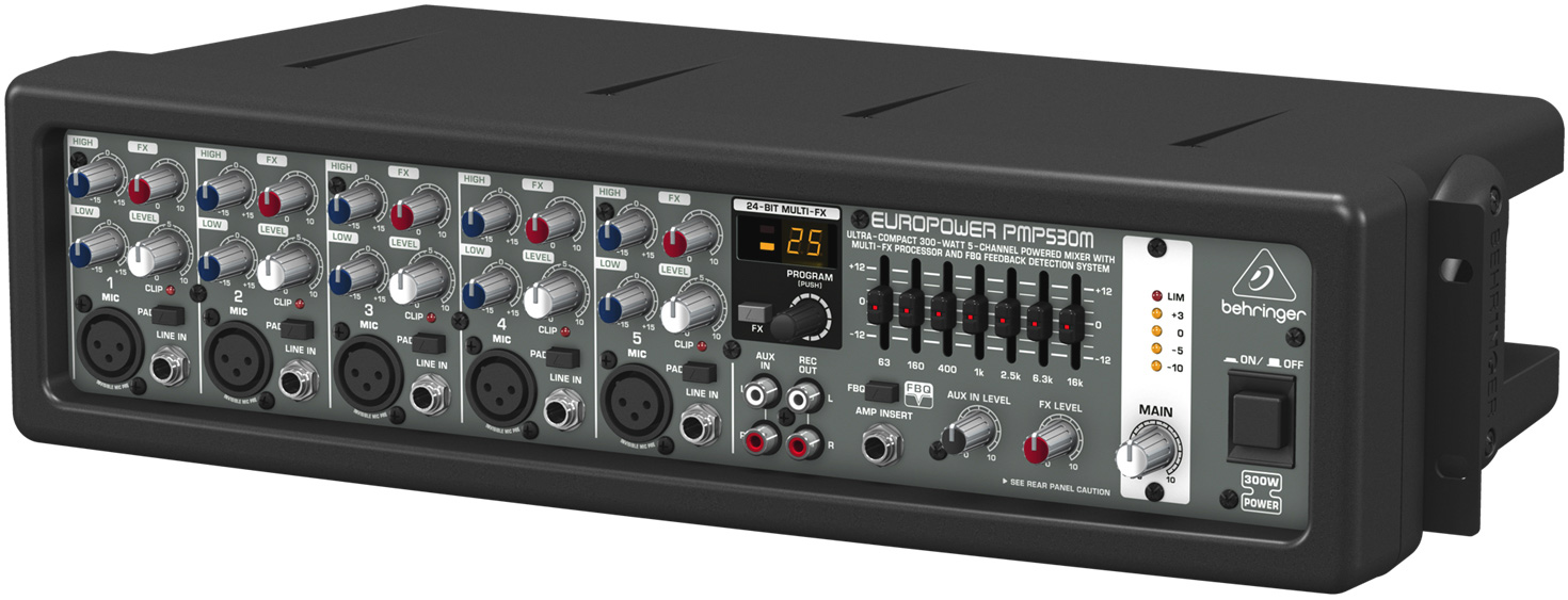 behringer pmp530m ultra compact 300 watt 5 channel powered mixer. Black Bedroom Furniture Sets. Home Design Ideas