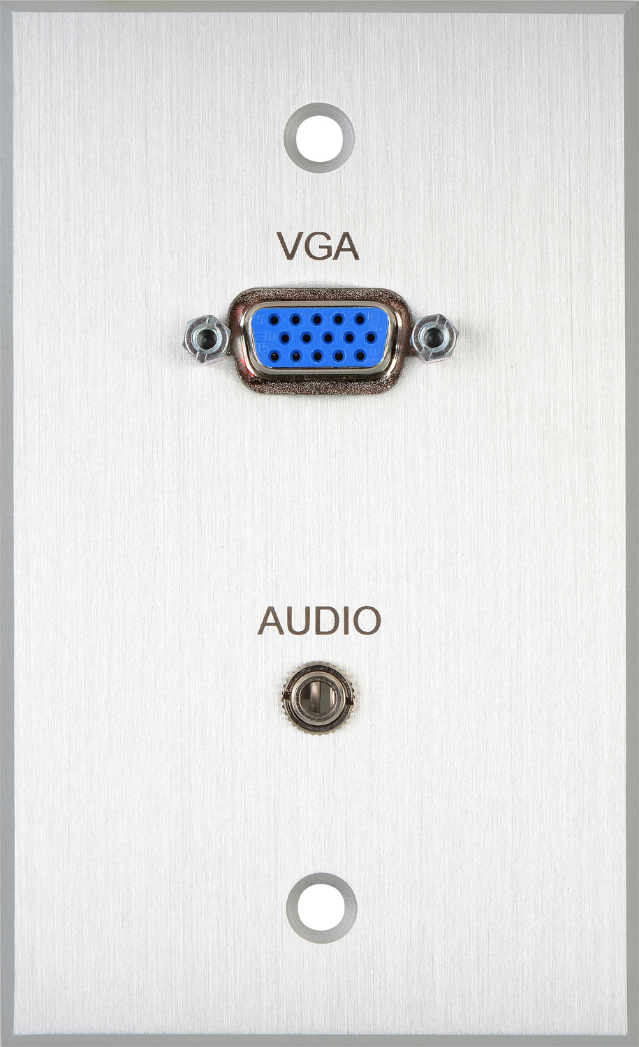 Tecnec Board Room 1 Gang Clear Anodized Wall Plate With Hd