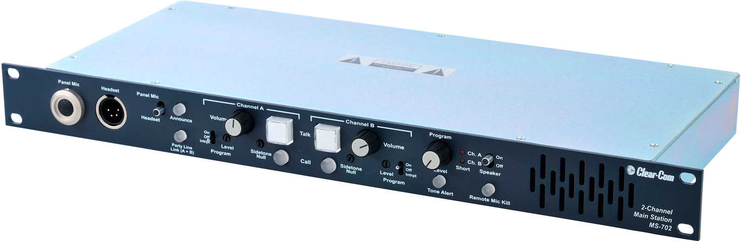 Clear Com Ms 702 Intercom 2 Channel Rackmount Main Station