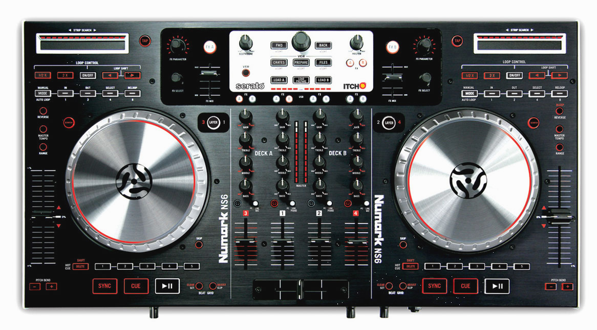 numark ns6 4 channel digital dj controller. Black Bedroom Furniture Sets. Home Design Ideas