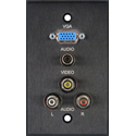 Board Room 1G Clear Anodized w/15-Pin HD / Dual RCA / 1 3.5mm Mini / 1 BNC (All Barrels)