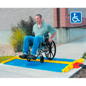 Cross Guard ADA Ramp Attachments for LineBacker CP1X225-GP Blue