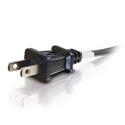 6ft 18 AWG 2-Slot Non-Polarized Power Cord (NEMA 1-15P to IEC320C7)