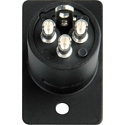 Switchcraft D3MB XLR Male 3 Pin Chassis Mount Black