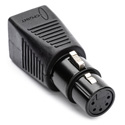 Sescom DMX-5XF-CAT5 5-pin XLR Female to RJ45 DMX Adapter