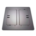 Mystery FMCA3400 Self Trimming Satin Black Floor Box with Cable Door