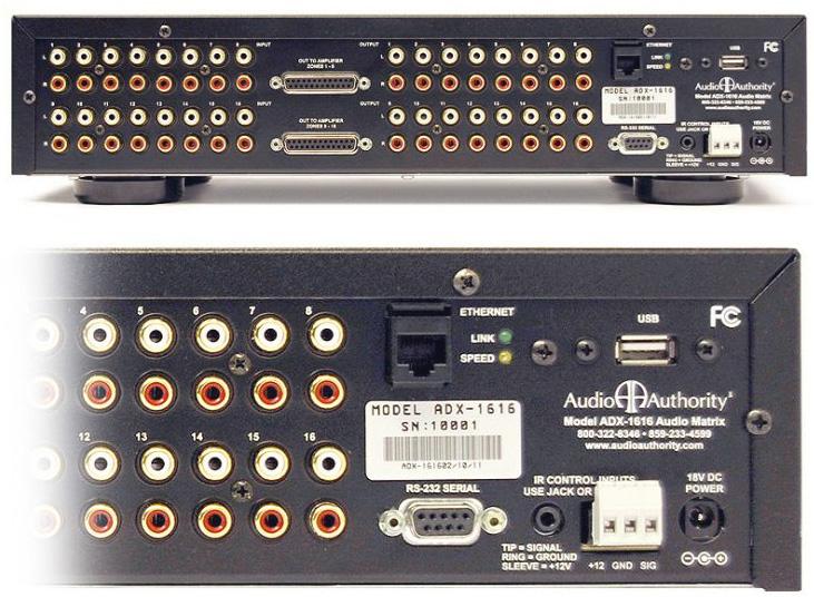 Audio Authority Adx 1616 16x16 Multi Zone Audio Matrix