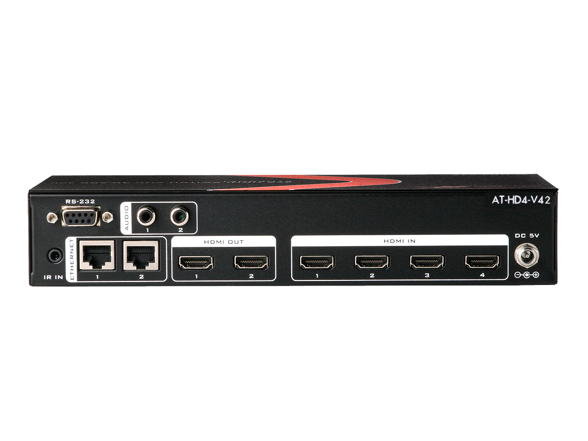 Atlona at hd4 v42 4x2 hdmi switch w 3d arc and ethernet Video hd4