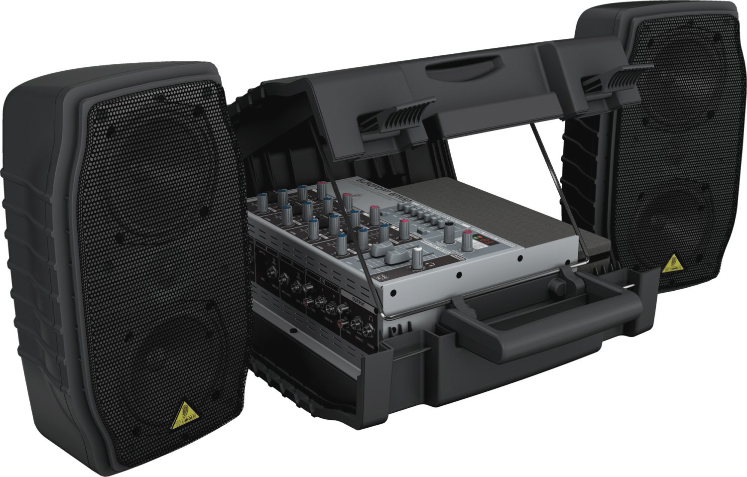 behringer europort epa150 ultra compact 150 watt 5 channel portable pa system with digital effects. Black Bedroom Furniture Sets. Home Design Ideas