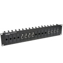 MuxLab 500900 Rack Mount Balun Chassis For 16 Units in 19in Rack