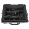 Pelican 1620 Black Case with PortaBrace PB-1620DKO Interior Divider Kit
