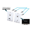Vanco 280725 HDMI Extender Wallplate Over 165 Ft via 2-CAT5 w/Super IR