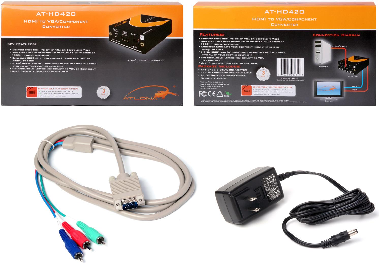 Atlona AT-HD420 HDMI to VGA/Component & Stereo Audio Format Converter