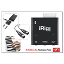 IK Multimedia iRig MIDI Core MIDI Interface for iPhone/iPod/iPad