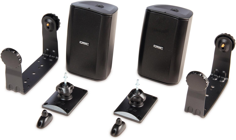 qsc audio ad s32t 2 way surface mount speaker black pair rh markertek com
