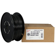 Black Vinyl Coated Aircraft Cable