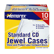 Memorex Clear Standard Jewel Cases 10 Pack