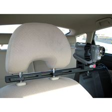 CruiseCam In-Car Short Bar Single Seat Headrest Mount for Cameras and Camcorders