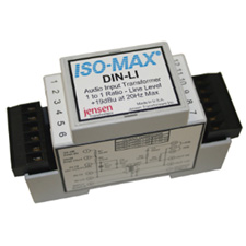 Jensen DIN Rail Line Level 1:1 Audio Modules