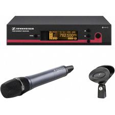 Sennheiser EW 145 G3 e845 Handheld Mic Transmitter and Rackmount Wireless Receiver Systems